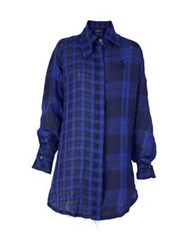 Vivienne Westwood Anglomania Lottie Shirt Dress Blue