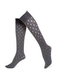 Hue Sheer Dot Opaque Knee High
