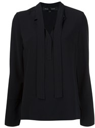 Proenza Schouler V Neck Blouse Black
