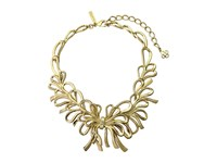 Oscar De La Renta Bow Necklace Light Gold Necklace