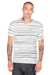 Nudie Jeans Loose Rain Stripes Tee White