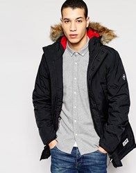 Puffa Darwin Jacket Black Blue