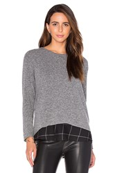 Generation Love Hannah Plaid Sweatshirt Gray