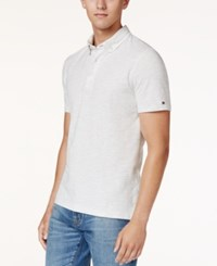 Tommy Hilfiger Men's Byron Pique Polo Ice Grey Heather