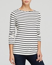 Moon And Meadow Striped Boat Neck Tee