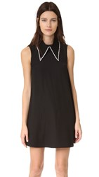 Mcq By Alexander Mcqueen Collar Trapeze Dress Black