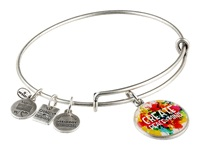 Alex And Ani Peace Of Mind Charm Bangle Rafaelian Silver Finish Bracelet