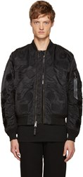 Marcelo Burlon Black Alpha Industries Edition Ma 1 Bomber Jacket