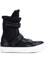 Byungmun Seo Velcro Boots Black