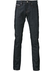 Naked And Famous Naked And Famous Straight Leg Jeans Blue