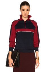 Chloe Chloe Sporty Silk Knit Track Jacket In Blue