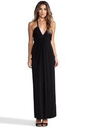 T Bags Deep V Maxi Dress Black