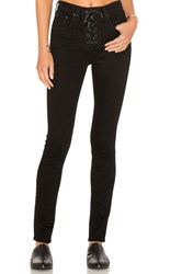 Rag And Bone Lace Up High Rise Skinny Black Coal