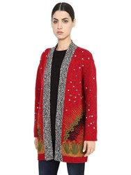 Valentino Volcano Wool And Cashmere Cardigan