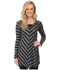 Aventura Clothing Bexley Tunic Black White Women's Long Sleeve Pullover