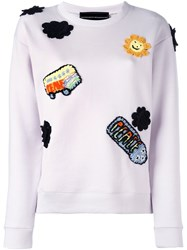 Michaela Buerger Patched Sweatshirt Pink And Purple