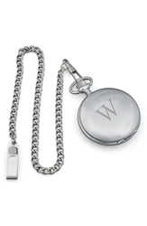 Cathy's Concepts Silver Plate Personalized Pocket Watch