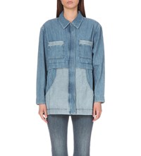 Mih Jeans Painters Denim Parka Cult Chambray