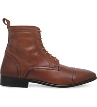 Kg By Kurt Geiger Rathmore Leather Ankle Boots Tan