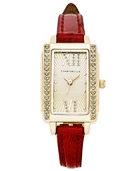 Charter Club Women's Red Leather Strap Watch 22X30mm Only At Macy's Gold