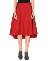 Y 3 Knee Length Skirts Red