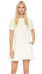 Edit Pleated Mini Dress White
