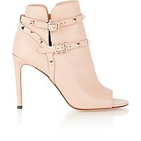 Valentino Women's Rockstud Ankle Booties Light Grey