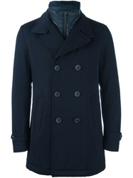 Herno Notched Lapel Double Breasted Coat Black