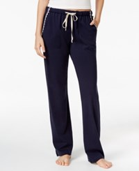 Lucky Brand Embroidery Trimmed Pajama Pants Navy