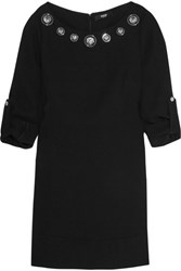 Versus By Versace Embellished Crepe Mini Dress Black