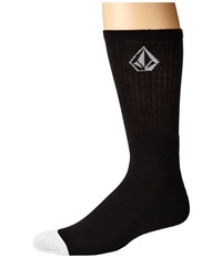 Volcom Full Stone Sock Black 2 Men's Crew Cut Socks Shoes
