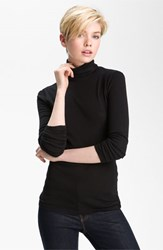 Women's Splendid Fitted Turtleneck Black