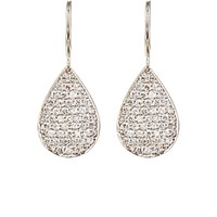 Irene Neuwirth Diamond Collection Women's Pave White Diamond Pear Shaped Drop Earrings No Color