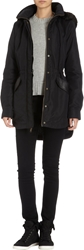 Barneys New York Faux Fur Hooded Anorak Black