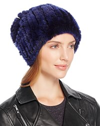 Surell Rabbit Fur Slouch Hat Blackberry