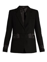 Maison Martin Margiela Single Breasted Exposed Lining Wool Jacket Black