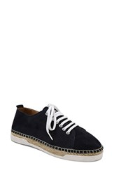 Andre Assous Women's Shawn Espadrille Perforated Sneaker Navy Suede