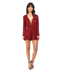 The Jetset Diaries Colonial Romper Oxblood Women's Jumpsuit And Rompers One Piece Red