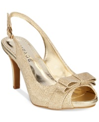 Rampage Fredrica Slingback Pumps Women's Shoes Gold Glitter