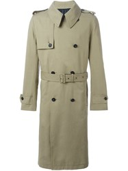 Ami Alexandre Mattiussi Double Breasted Trench Coat Green
