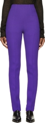 Cnc Costume National Purple High Waisted Wool Trousers