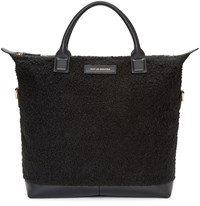 Want Les Essentiels Black Wool Mirabel Tote