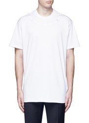 Givenchy Barb Wire Embroidery T Shirt White