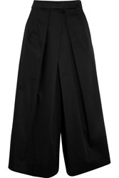 Tome Cotton Sateen Culottes Black