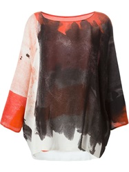 Abstract Print Blouse Multicolour