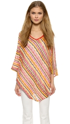 Missoni Stripe Poncho Yellow Orange