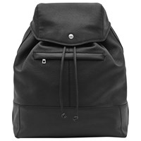 Reiss Bash Grained Leather Backpack Black