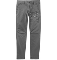 Michael Bastian Slim Fit Stretch Cotton Twill Cargo Trousers Gray