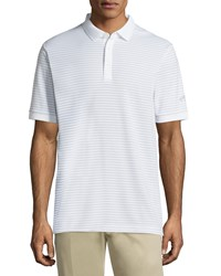 Callaway Short Sleeve Thin Stripe Polo Shirt Bright White