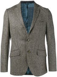 Etro Herringbone Blazer Brown